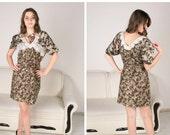 SALE 25% OFF!!!! Handmade Nuno felted dress/ silk and wool /everyday/ brown dress/  spring fashion/ OOAK