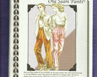 Cutting Line 31371 Safari Chic Easy Fitting Pants with Cargo Pockets Size 10 to 26 UNCUT