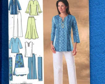 Simplicity 4149 Boho Chic Summer Wardrobe Size 20W to 28W UNCUT