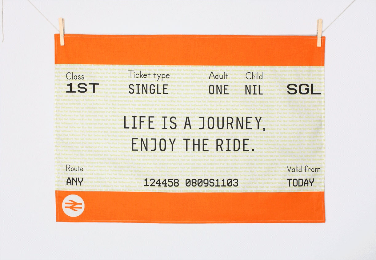 Tea towels for Train ticket template word