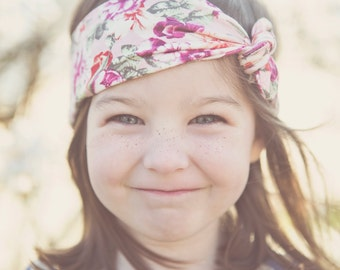 Baby Hair Wrap in Pink Floral