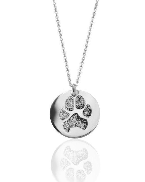 your pet 39 s actual paw print personalized pendant necklace