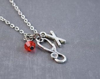 Stethoscope Necklace -  Doctor Jewelry - Stethoscope Jewelry - Medical Necklace - Science Jewelry - Personalized Necklace - Medical Jewelry