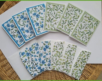 Note Card Set: Pack of 6 Blank Note Cards with Matching Envelopes Beautifully Handcrafted for You