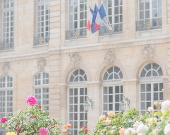 Paris Photography - Roses at the Rodin, Fine Art Photography Print, French Home Decor, Large Wall Art