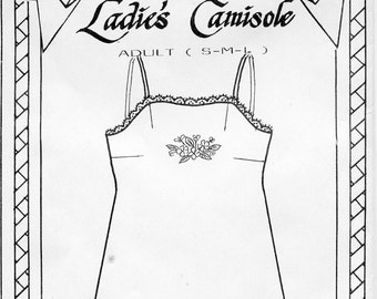 Women's Camisole  Pattern with Shadow Work