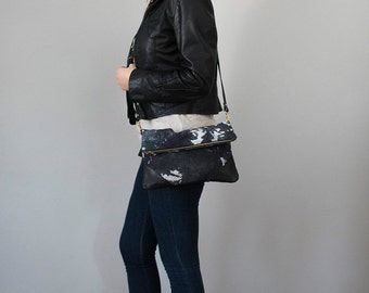 SALE! Crossbody Clutch with Pockets Hand Dyed