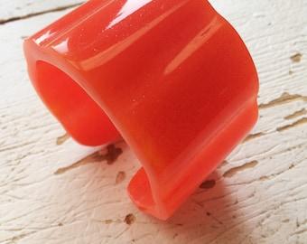Carrot Handmade Resin Bangle Cuff