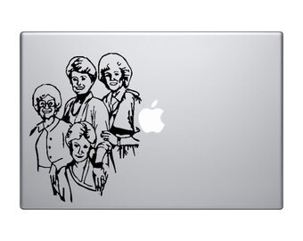 Vinyl decal for laptop or car - Rose, Sophia, Dorothy & Blanch decal sticker