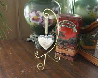 Valentines Day - heart ornament - wedding favor - coastal decor - Christmas ornament