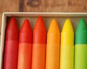 16 Drawing Crayons,  Christmas Gift For Artist Wife Husband, Non Toxic Crayons, Mid Century Crayola School Crayons, Copley Crayons,
