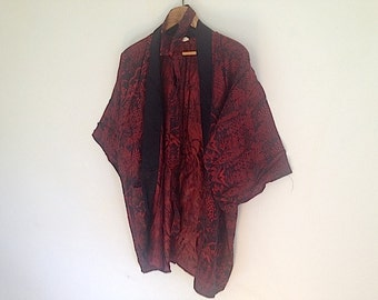 Antique Japanese Robe Komodo, Bohemian Chic,  Light Weight Robe For Her,
