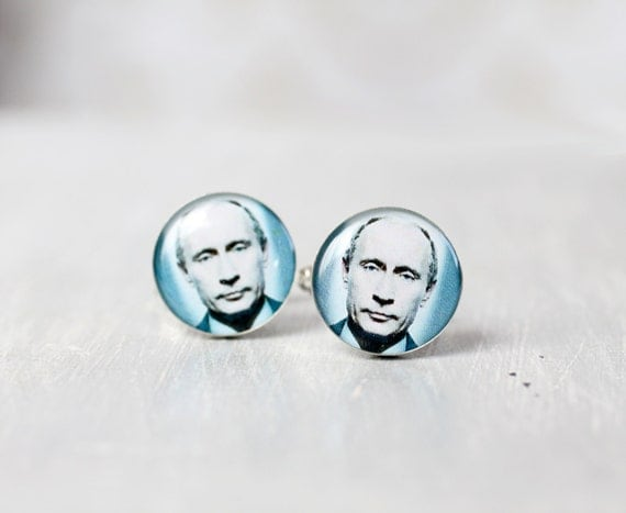 President cuff links - Vladimir Putin Cuff links for him - Russian Federation Design