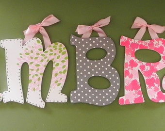 Botanica Set of 7 Hand Painted Letters