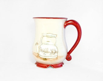 Teapots Mug with Red Accents