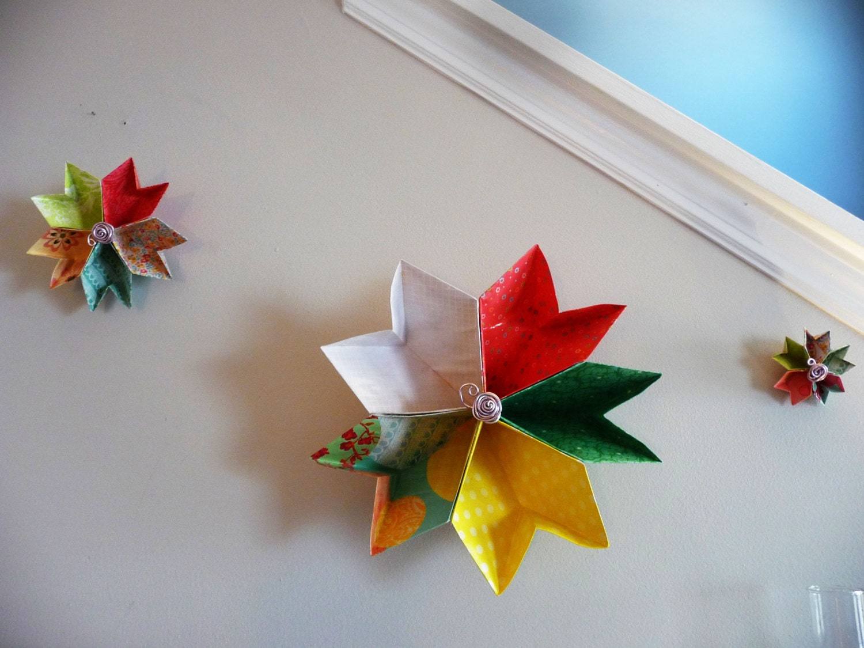 Origami flower 3d wall art nursery decoration flower for 3d flowers for wall decoration