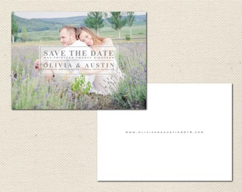 Save the Date Photography Template - 0004 - Photoshop Template