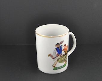 Vintage Favolina Goralski Polish Dancers Cup Made in Poland, Goralski Mug, Goralski Mug, Folk Dance, Polish Cup, Coffee Cup, Coffee Mug