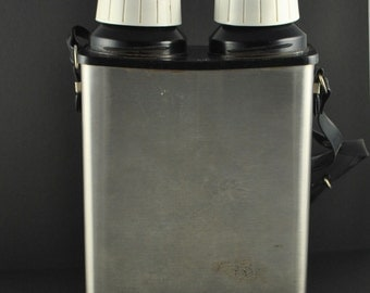 Vintage Thermo-Serv Company Duel Thermos Made in the USA (Free US Shipping)