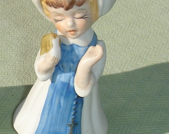 Vintage Collectible Porcelain Nun Singing with Bible Figurine