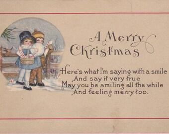 Ca 1907-09 Christmas Greetings Postcard - 1795