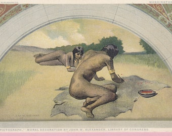 "Ca. 1920's ""Pictograph"" Library of Congress Art Postcard - 699"