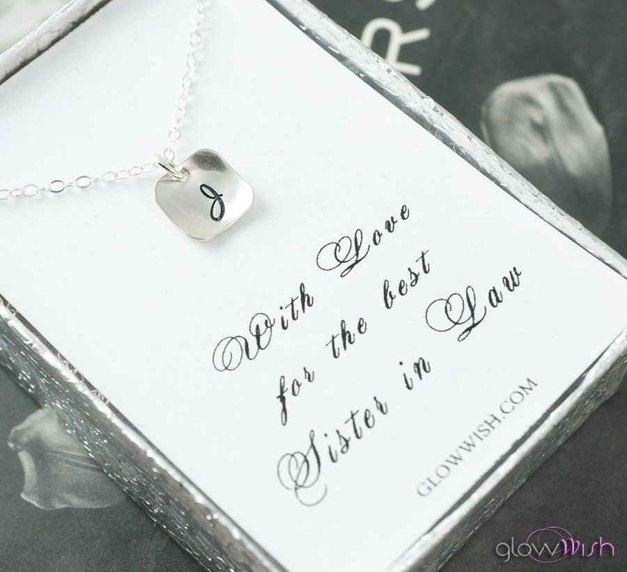 Sister In Law Gift Necklace Bridesmaid