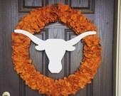 "Longhorns 24"" wreath"