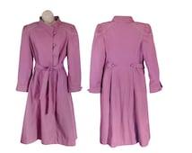 Pink Coat Women Trench Coat Pink Trench Coat Spring Trench Coat Princess Coat Trenchcoat Long Coat Women Lightweight Coat Light Coat Belted