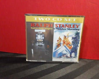 Ralph Stanley - Saturday Night & Sunday Morning - CD 9001 - two-cd set (Freeland Recording Co.1992) ~ 90s Bluegrass/Gospel double album