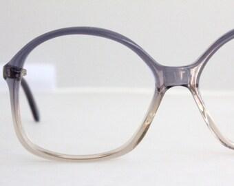 Vintage 80's Oversized German Purple Eyeglasses Frames