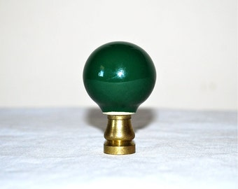 Green Ceramic Ball Lamp Finial Medium Large