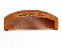Natural Wood hair comb Wooden hair comb Wood comb Wooden comb Natural, Personalize, wood carving, head scalp massage, handmade by MariyaArts