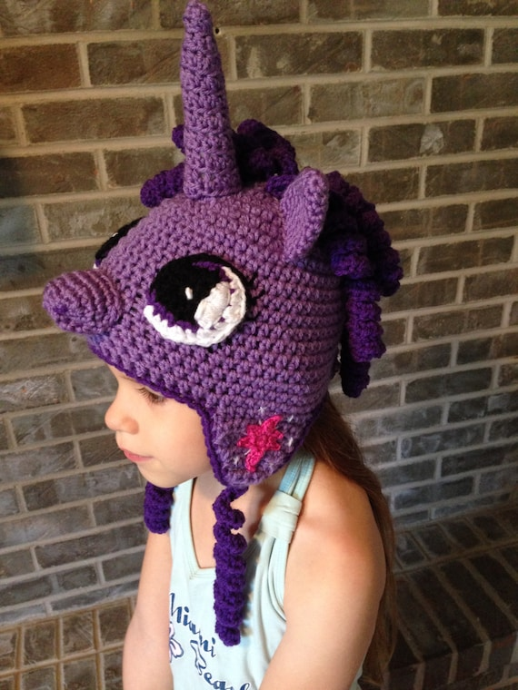 Twilight Sparkle My Little Pony crochet hat PATTERN ONLY