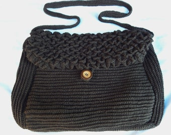 Crochet Pattern for Ribbed Messenger Bag (instructions in English)