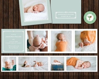 3x3 Earthtone Mini Accordion Album Template - A29