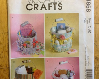 McCalls Crafts Sewing Pattern 4858 Bucket Organizers