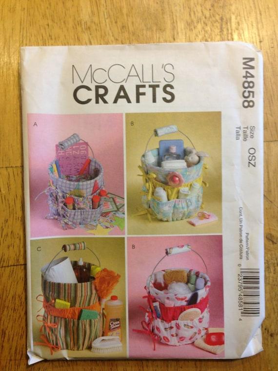 McCalls Crafts Sewing Pattern 4858 Bucket Organizers