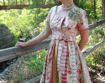 Dress Pattern, The Betty June Dress Sewing  Pattern by  Kay Whitt