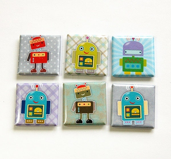 Robot Magnets Fridge Magnets Kitchen Magnets Magnet Set