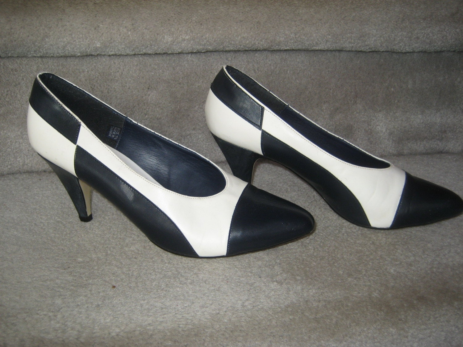 Ladies Black And White Spectator Shoes