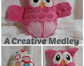 Peekaboo Owl In the Hoop Stuffed Softie - Reversible folds into an egg, ITH, IN The Hoop, Embroidery Design, Instant download