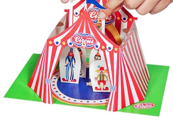 Circus Paper Theater - DIY Paper Craft Kit - Kids Craft Kit - Puppets - Paper Toy - 3D Model Paper Figure