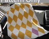 Crochet Pattern - Harlequin Blanket / Afghan - Beginner Level onwards