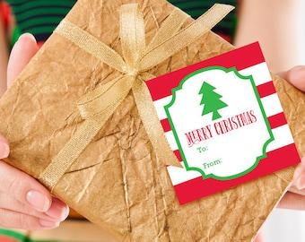 Christmas Gift Tag - Printable Christmas Gift Tags - Holiday Gift Tag - Instant Download - Christmas Tree Gift Tag - Christmas Favor Tag