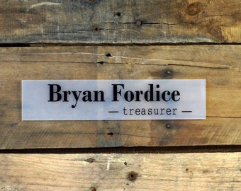 Acrylic Door Name Plate 10 x 2.5 inches