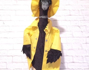 Singing In The Rain Duck  Faux Taxidermy |animal head |stuffed wall mounted head |stuffed animal |duck |nursery wall art |gift