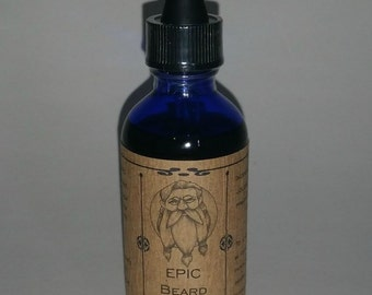 EPIC Beard-Choose your Scent-Conditioning Beard Drops-2 oz size, for Champion Sized Beards. Great gift for Dad