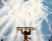 """Vintage 1995, Legend of the White Buffalo Series, Limited Edition, First Issue, """"Mystic Spirit"""", by Diana Elizabeth Stanley"""