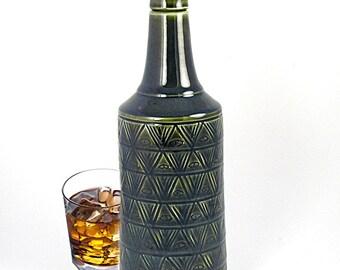 Whiskey Bottle Decanter dram elixir  Design in Blue Opal